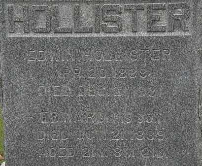 HOLLISTER, EDWARD - Erie County, Ohio | EDWARD HOLLISTER - Ohio Gravestone Photos