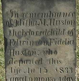 HUSTON, FIDELIA - Erie County, Ohio   FIDELIA HUSTON - Ohio Gravestone Photos