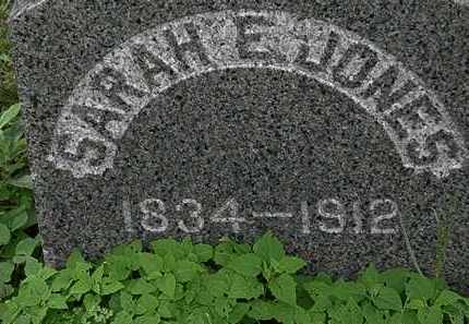 JONES, SARAH E. - Erie County, Ohio | SARAH E. JONES - Ohio Gravestone Photos