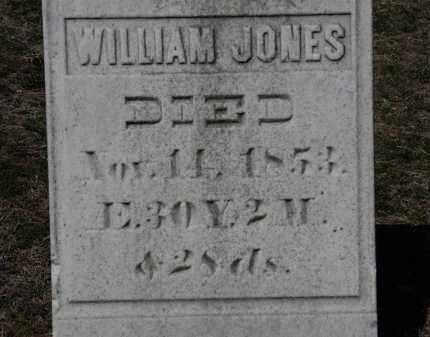 JONES, WILLIAM - Erie County, Ohio | WILLIAM JONES - Ohio Gravestone Photos