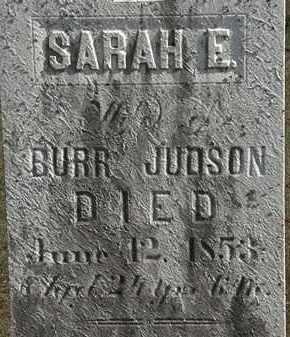 JUDSON, SARAH E. - Erie County, Ohio   SARAH E. JUDSON - Ohio Gravestone Photos