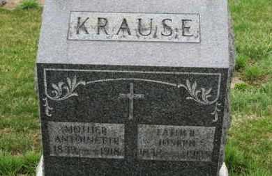KRAUSE, ANTOINETTE - Erie County, Ohio | ANTOINETTE KRAUSE - Ohio Gravestone Photos