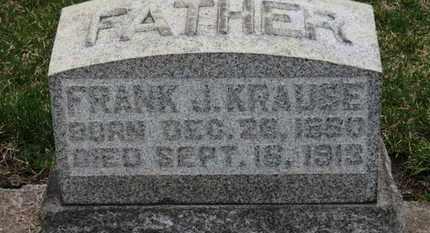 KRAUSE, FRANK J. - Erie County, Ohio | FRANK J. KRAUSE - Ohio Gravestone Photos