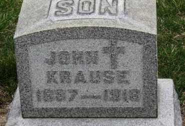 KRAUSE, JOHN - Erie County, Ohio   JOHN KRAUSE - Ohio Gravestone Photos