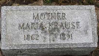 KRAUSE, MARIA - Erie County, Ohio   MARIA KRAUSE - Ohio Gravestone Photos