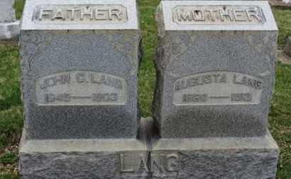 LANG, AUGUSTA - Erie County, Ohio | AUGUSTA LANG - Ohio Gravestone Photos