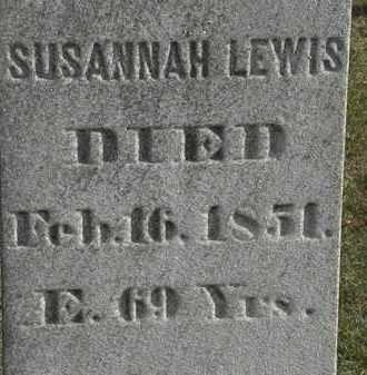 LEWIS, SUSANNAH - Erie County, Ohio   SUSANNAH LEWIS - Ohio Gravestone Photos