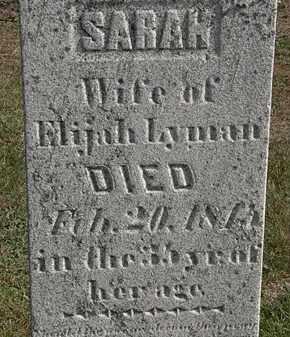 LYMAN, SARAH - Erie County, Ohio | SARAH LYMAN - Ohio Gravestone Photos