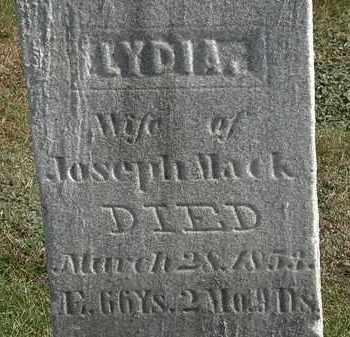 MACK, LYDIA - Erie County, Ohio | LYDIA MACK - Ohio Gravestone Photos