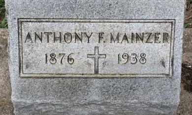 MAINZER, ANTHONY F. - Erie County, Ohio | ANTHONY F. MAINZER - Ohio Gravestone Photos