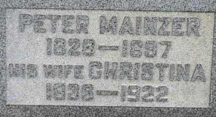 MAINZER, CHRISTINA - Erie County, Ohio | CHRISTINA MAINZER - Ohio Gravestone Photos