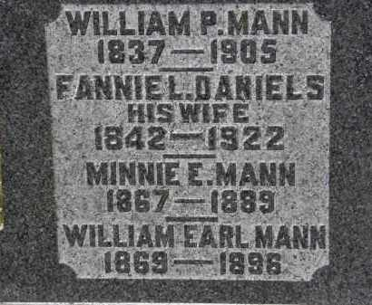 MANN, WILLIAM P. - Erie County, Ohio | WILLIAM P. MANN - Ohio Gravestone Photos