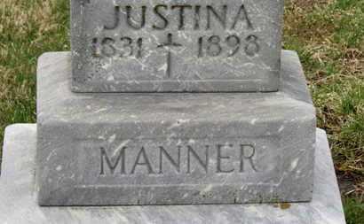 MANNER, JUSTINA - Erie County, Ohio   JUSTINA MANNER - Ohio Gravestone Photos