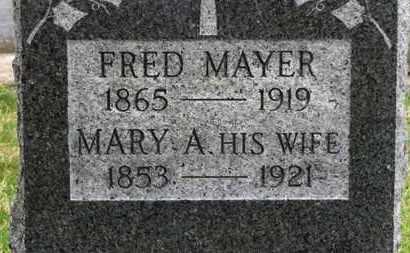 MAYER, MARY A. - Erie County, Ohio | MARY A. MAYER - Ohio Gravestone Photos