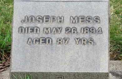 MESS, JOSEPH - Erie County, Ohio   JOSEPH MESS - Ohio Gravestone Photos