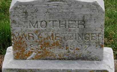 METZINGER, MARY - Erie County, Ohio   MARY METZINGER - Ohio Gravestone Photos