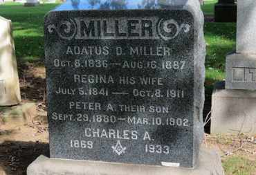 MILLER, PETER A. - Erie County, Ohio | PETER A. MILLER - Ohio Gravestone Photos