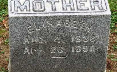 MILLER, ELISABETH - Erie County, Ohio   ELISABETH MILLER - Ohio Gravestone Photos