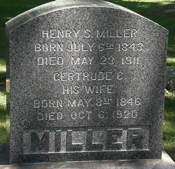 MILLER, HENRY S. - Erie County, Ohio | HENRY S. MILLER - Ohio Gravestone Photos