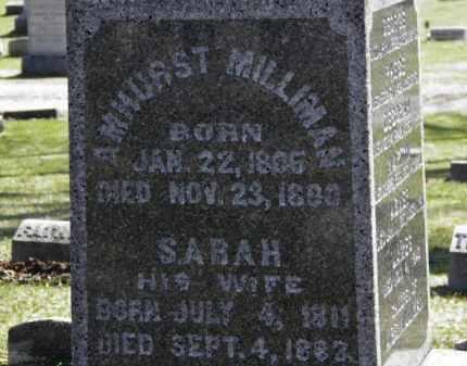 MILLIMAN, SARAH - Erie County, Ohio | SARAH MILLIMAN - Ohio Gravestone Photos
