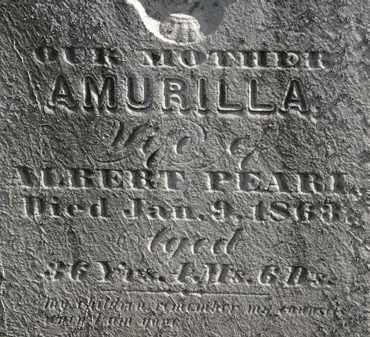 PEARL, AMURILLA - Erie County, Ohio | AMURILLA PEARL - Ohio Gravestone Photos