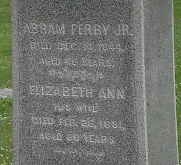 PERRY, ELIZABETH ANN - Erie County, Ohio | ELIZABETH ANN PERRY - Ohio Gravestone Photos
