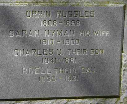 RUGGLES, SARAH - Erie County, Ohio | SARAH RUGGLES - Ohio Gravestone Photos