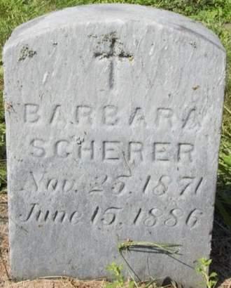 SCHERER, BARBARA - Erie County, Ohio   BARBARA SCHERER - Ohio Gravestone Photos