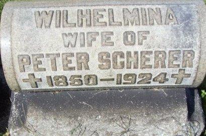 SCHERER, WILHEMINA - Erie County, Ohio | WILHEMINA SCHERER - Ohio Gravestone Photos