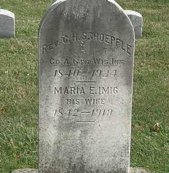 SCHOEPFLE, REV. C.H. - Erie County, Ohio | REV. C.H. SCHOEPFLE - Ohio Gravestone Photos