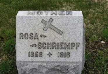 SCHRIEMPF, ROSA - Erie County, Ohio   ROSA SCHRIEMPF - Ohio Gravestone Photos