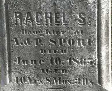 SPORE, RACHEL S. - Erie County, Ohio   RACHEL S. SPORE - Ohio Gravestone Photos