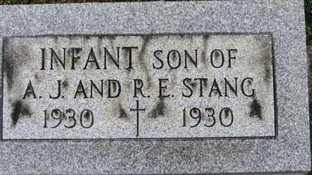 STANG, INFANT SON - Erie County, Ohio   INFANT SON STANG - Ohio Gravestone Photos