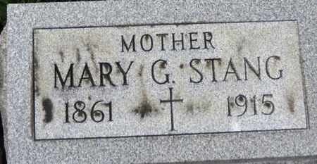 STANG, MARY G. - Erie County, Ohio | MARY G. STANG - Ohio Gravestone Photos