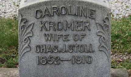 KROMER STOLL, CAROLINE - Erie County, Ohio   CAROLINE KROMER STOLL - Ohio Gravestone Photos