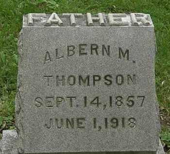 THOMPSON, ALBERN M. - Erie County, Ohio | ALBERN M. THOMPSON - Ohio Gravestone Photos