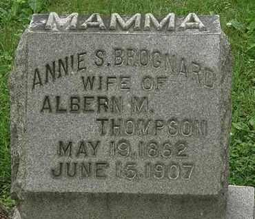 THOMPSON, ANNIE S. - Erie County, Ohio | ANNIE S. THOMPSON - Ohio Gravestone Photos