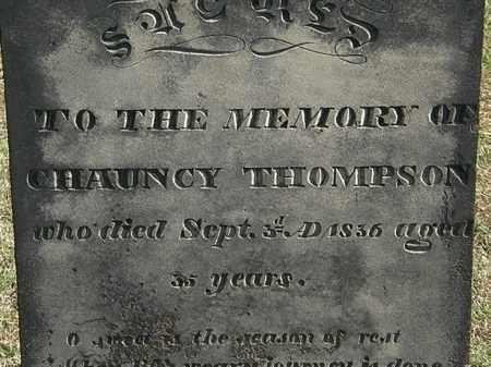 THOMPSON, CHAUNCY - Erie County, Ohio | CHAUNCY THOMPSON - Ohio Gravestone Photos