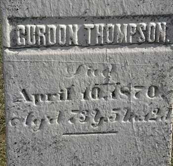 THOMPSON, GORDON - Erie County, Ohio   GORDON THOMPSON - Ohio Gravestone Photos