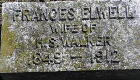 ELWELL WALKER, FRANCES - Erie County, Ohio | FRANCES ELWELL WALKER - Ohio Gravestone Photos