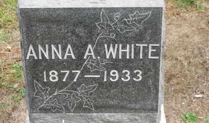 WHITE, ANNA A. - Erie County, Ohio | ANNA A. WHITE - Ohio Gravestone Photos