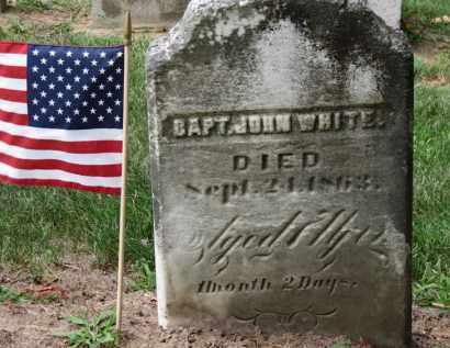 WHITE, CAPT. JOHN - Erie County, Ohio   CAPT. JOHN WHITE - Ohio Gravestone Photos