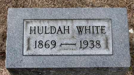 WHITE, HULDA - Erie County, Ohio | HULDA WHITE - Ohio Gravestone Photos