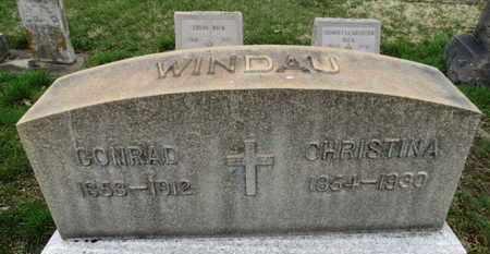 WINDAU, CONRAD - Erie County, Ohio | CONRAD WINDAU - Ohio Gravestone Photos