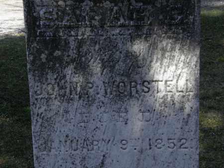 WORSTELL, JOHN P. - Erie County, Ohio   JOHN P. WORSTELL - Ohio Gravestone Photos