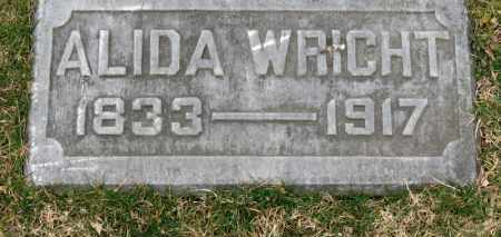 WRIGHT, ALIDA - Erie County, Ohio | ALIDA WRIGHT - Ohio Gravestone Photos