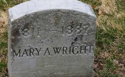 WRIGHT, MARY A. - Erie County, Ohio   MARY A. WRIGHT - Ohio Gravestone Photos