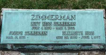 ZIMMERMAN, JOSEPH - Erie County, Ohio | JOSEPH ZIMMERMAN - Ohio Gravestone Photos