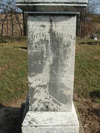 FAIRCHILD, ELIZABETH - Fairfield County, Ohio   ELIZABETH FAIRCHILD - Ohio Gravestone Photos
