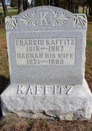 KAFFITZ, HANNAH - Fairfield County, Ohio | HANNAH KAFFITZ - Ohio Gravestone Photos